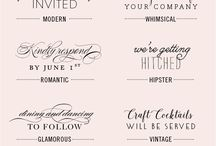 Wedding Invitation Font Combinations / The secret to choosing beautiful wedding invitation font combinations for your DIY invites is variety and contrast. Choose two very different fonts of different types. For example, script and sans serif or any decorative font with a plain font. One is fancy the other is more readable. Font weights and widths can provide contrast as well.
