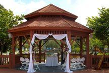 Disney Shades of Green Weddings / Orlando Harpist - Shades of Green Weddings. This is a Disney World military property in Florida, with a wedding ceremony gazebo and plenty of banquet space.  #shadesofgreen #Orlando #harpist