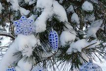 Елочные игрушки / Чем можно украсить елку на Новый год и Рождество