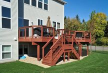 Wood Decks / In this board we have a variety of custom wood decks built by Rock Solid Builders in treated pine lumber and also cedar.  There are several cedar decks that also have Trex components to minimize maintenance while staying within budget.
