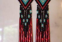 Aztec patronen met kralen
