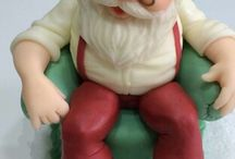Porcelana fría Navidad (Papa  Noel )