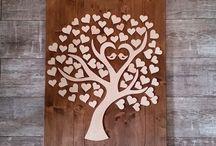 Wedding Tree - Hochzeitsbaum auf Hintergrund