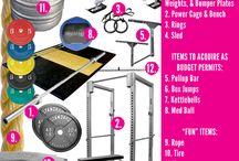 Garage gym / by Kelsa @ Fiscal Fitness Phoenix