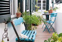 balcons, terrasses et jardins