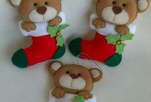 Feutrines de Noel / Feutrine de Noel