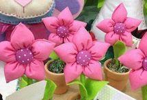 flores de tela
