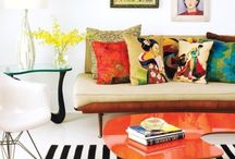 cushions & throws & rugs  / by Amy Brough