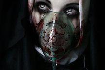 Nonne mit Gasmaske