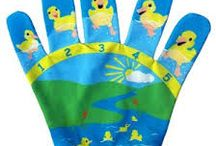 Song Mitts / Snog Mitts are a great way to interacted with your child, singing and counting.