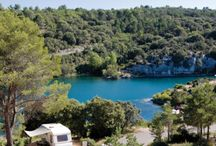 10 Camping Hidden Gems in France / Holidays in France, made a little more interesting. I hope this pinboard will interest followers as it shows some hidden away campsites in locations that are truly outstanding.