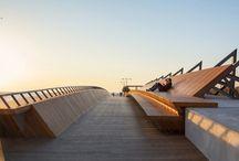 Gorgeous Bostanlı Bridge / Bostanlı Yaya Köprüsü ve Gün Batımı Terası / Gorgeous Bostanlı Bridge doubles as public park, designed for sunset watching.  Bostanlı Yaya Köprüsü ve Bostanlı Gün Batımı Terası, 'İzmirDeniz' projesi kapsamında Studio Evren Başbuğ Mimarlık tarafından tasarlandı.