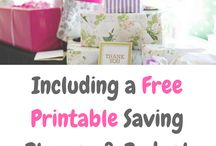 Managing Money Printables / The best money printables to keep you on budget. All free and creative money saving ideas to have you plan your grocery shop, home life and money. All the inspiration you need to help you save money wisely.