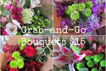 Grab-and-Go Bouquets / We create affordable seasonal bouquets to brighten your day!