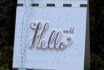 Hello World Stamps and Dies / The profits from the sale of these two products from October 1 - 7 will fund computers for kids!  More info here  http://catherinepooler.com/2016/10/01/world-card-making-day-giving-back-with-hello-world/