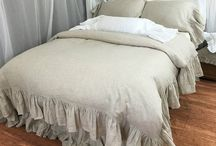 [ Natural Linen Bedding, Undyed Pure Linens ] / Undyed natural linen bedding combines the spirit of raw natural flax weaved into the highest quality fabric. With that we created the natural linen beddings for the minimalists, farmhouse style lovers, shabby chic endeavor, country cottage fans.