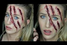 Horror film makeup