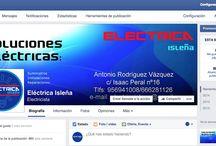 Facebook / Te invito a que visites mi perfil de empresa Eléctrica Isleña en Facebook, y si lo que hayas visto es de tu interés antes de irte no te olvides de darle a un Me gustas.