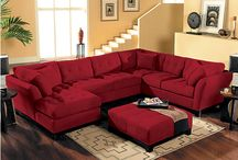 living room red