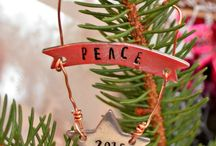 Stamped Christmas ornament ideas / ideas for metal stamped Christmas ornaments