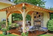 outdoor sitting shelter
