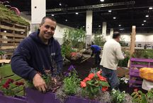 RIEEA @ RI Spring Flower & Garden Show / Board describing setting up of the garden at the flower show