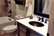 Home - Bathroom - Rustic Meets Shabby Chic / by Melanie McGrade Davidson