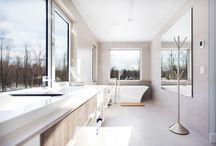 SALLES DE BAIN | BATHROOMS / Nos salles de bain prouvent que chaque pièce est importante.  Our bathrooms are the perfect example that every room are significant.