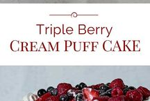 triple berry chouix cake