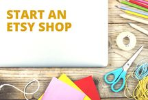 Start an Etsy Shop / Are you crafty and entrepreneurial? If you make awesome products you want to sell on Etsy, these are resources and tips to help your Etsy store be a success!