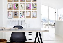 Home Office / ideas for efficient use of space to create an elegant and practical home office