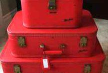 Vintage suitcases & trunks.....