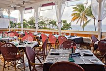 Dinner with a view! / Dine with a view of the Caribbean Sea!