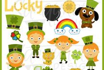 St. Patrick's Day Clipart / St. Patrick's Day clipart, St. Patty clipart, clover clipart, leprechaun clipart, green clipart, pot of gold clipart - for - digitizers, embroidery, applique, paper crafting, planner stickers, teachers, t-shirts.