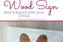 Cricut signs