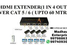 Extenders Madhav Enterprise Surat / Madhav Enterprise provides #Extenders Over #LAN that will extend #HDMI or #VGA or #USB through #LAN at #BestRate in #Surat & #South #Gujarat #India @salesmadhav
