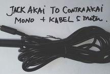 Jack Akai Mono To Contra Akai Mono + Kabel Mic 5 Meter