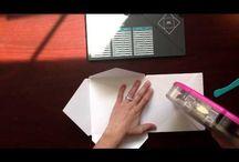 Craft Inspiration - Punch Boards / Envelope Punch Board - Gift Bag Punch Board