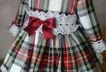 платье из шотландки  для девочки