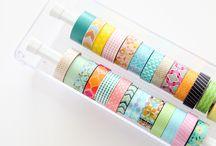 Washi tape storage / A bizillion ways to store your washi tape from washilane.com