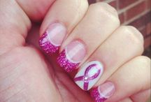 Cancer awareness nails