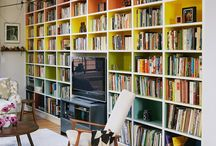 Libraries, bookshelves and reading nooks