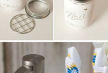 Bathroom mason jars