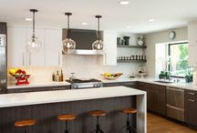 Contemporary Coastal Kitchen / A home by the Pacific Ocean with a blend of contemporary and coastal finishes.