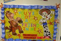 Toy story teacher door
