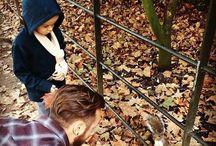 Matt i jego syn z wiewiórką