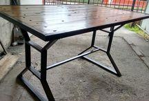 Mesa y bancas de patio
