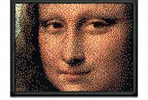 Pixel Art / With Pixel Art, creating an astounding work of art with the popular Quercetti pegs, is something both youngsters and adults alike can now do. The pegs come in six colours, yet if you look at your creation from a distance, they will merge, as if by magic, to form an image with new colours and nuances, as if you were looking at a photograph.