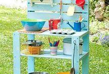 dětská venkovní kuchyně