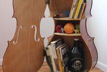 nábytek hudební nástroje